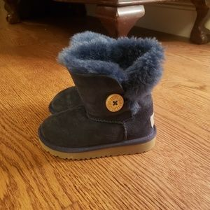 Toddler Size 8 Uggs Button Boots Navy Blue Ugg